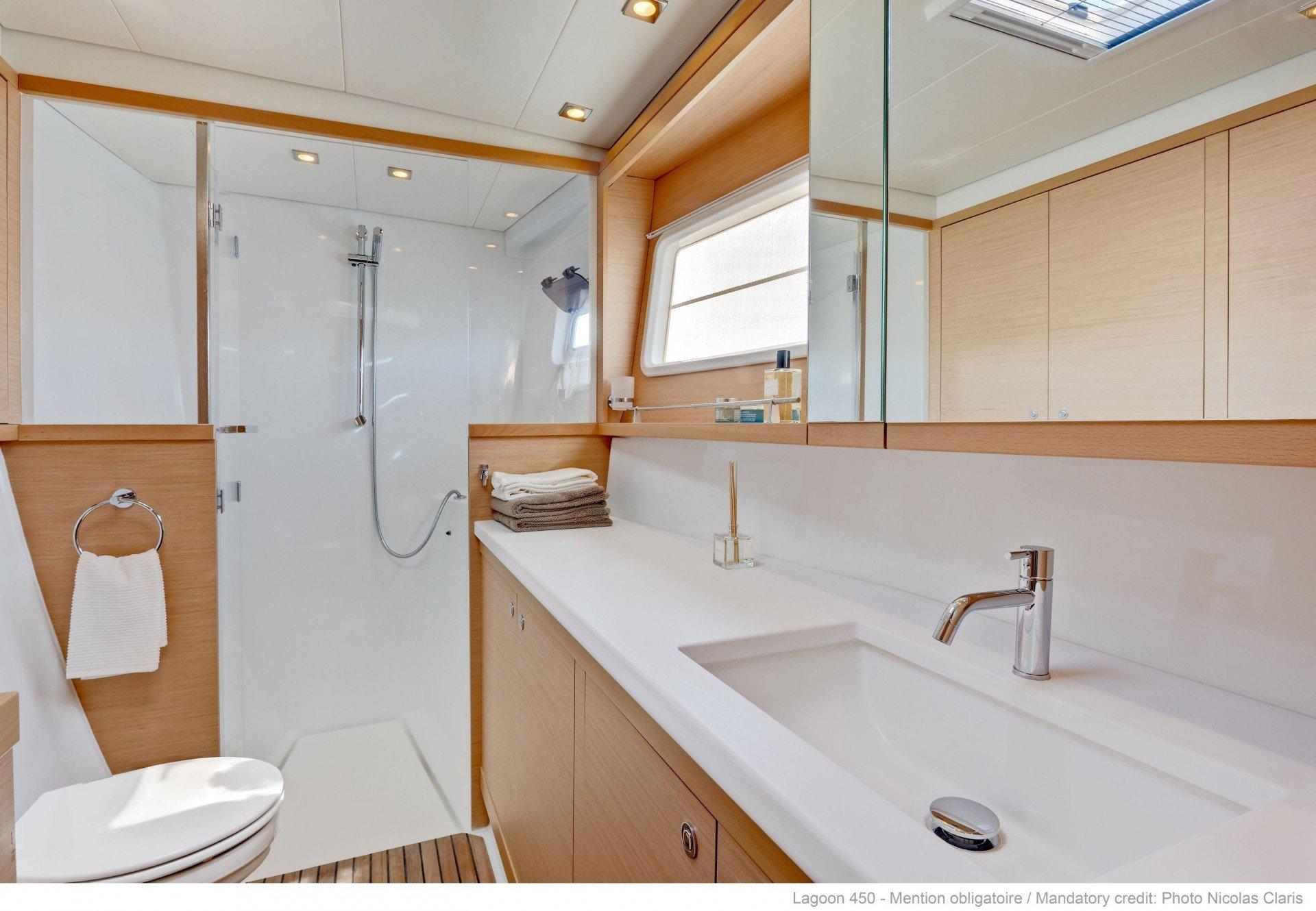 Lagoon 450 bathroom