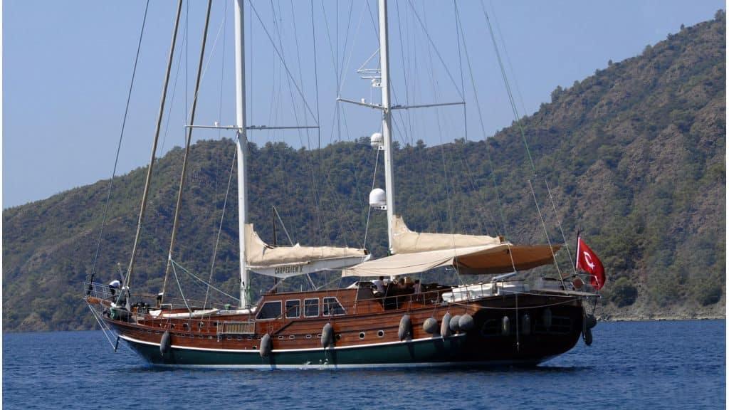 gulet CarpeDiem 5 sailing Turkish coast