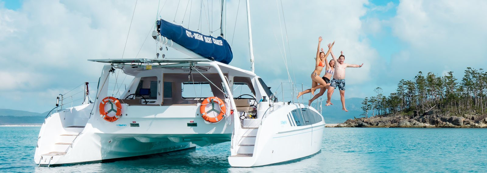 family enjoys sailing Seawind 1260