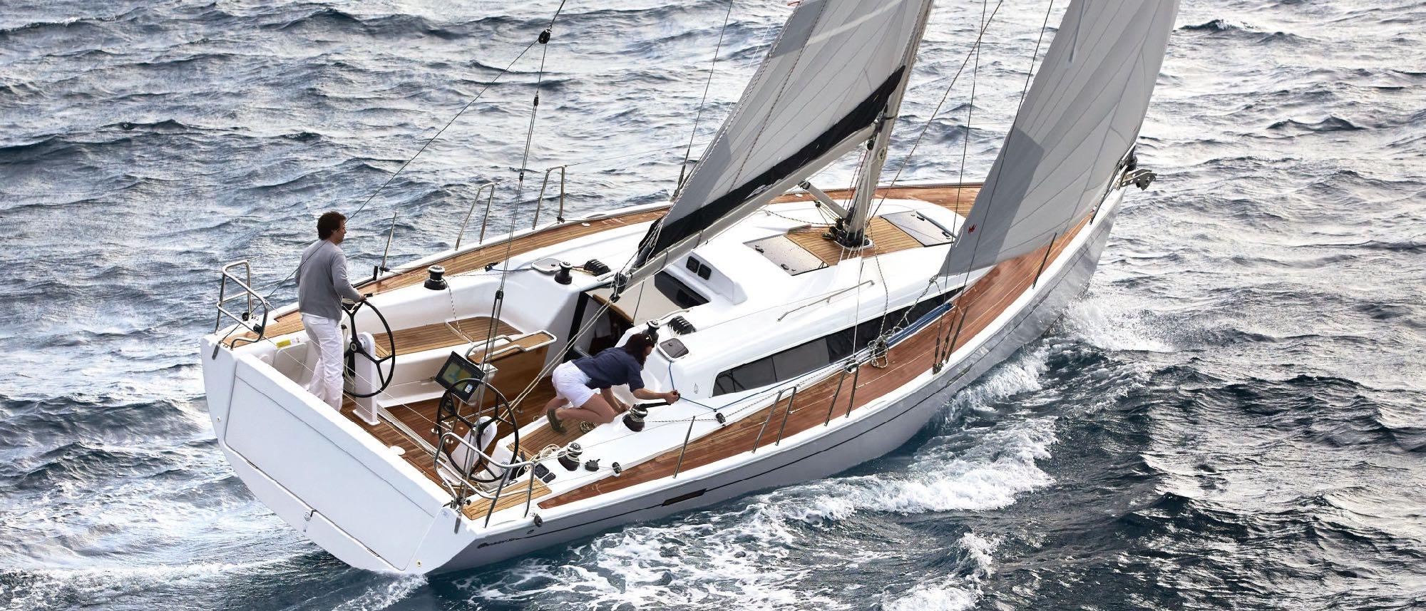 friends sailing Dehler 38