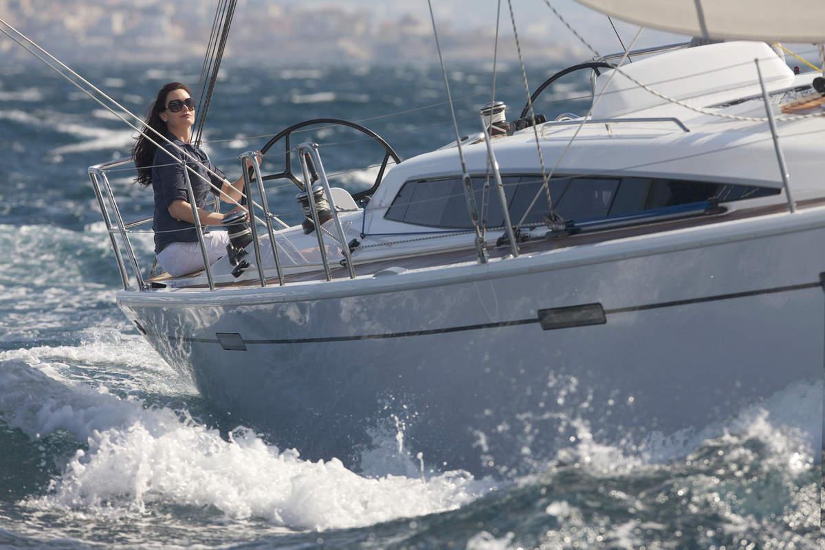 woman sailing the Dehler 38