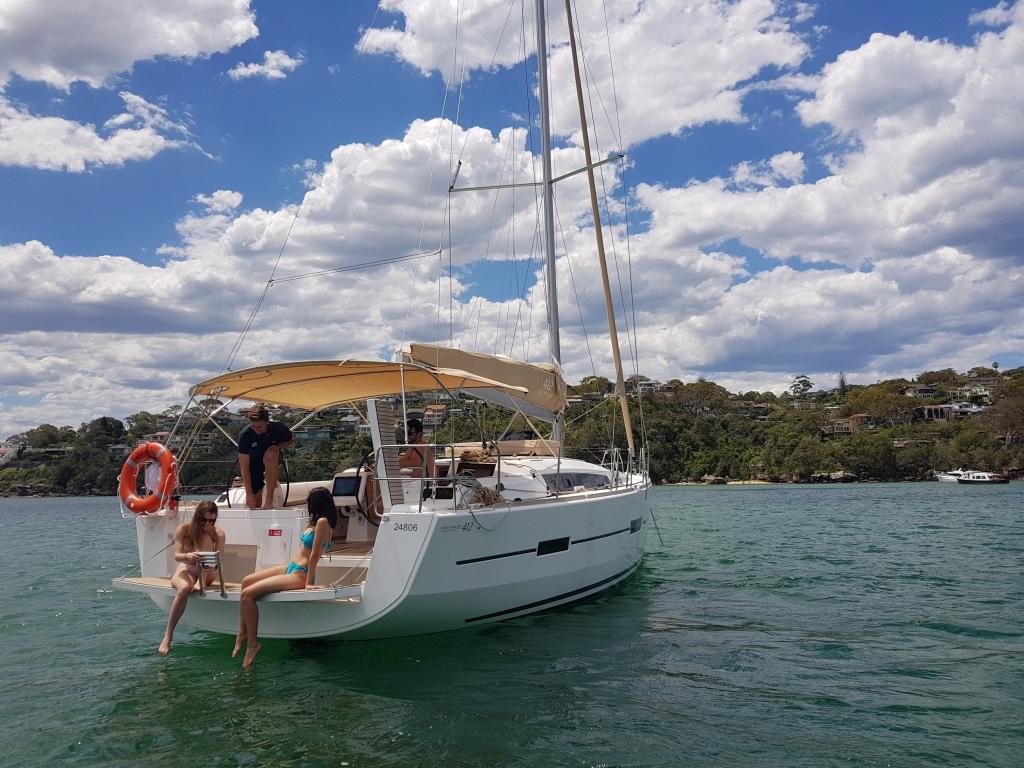 Dufour 412 sailing in Indonesia