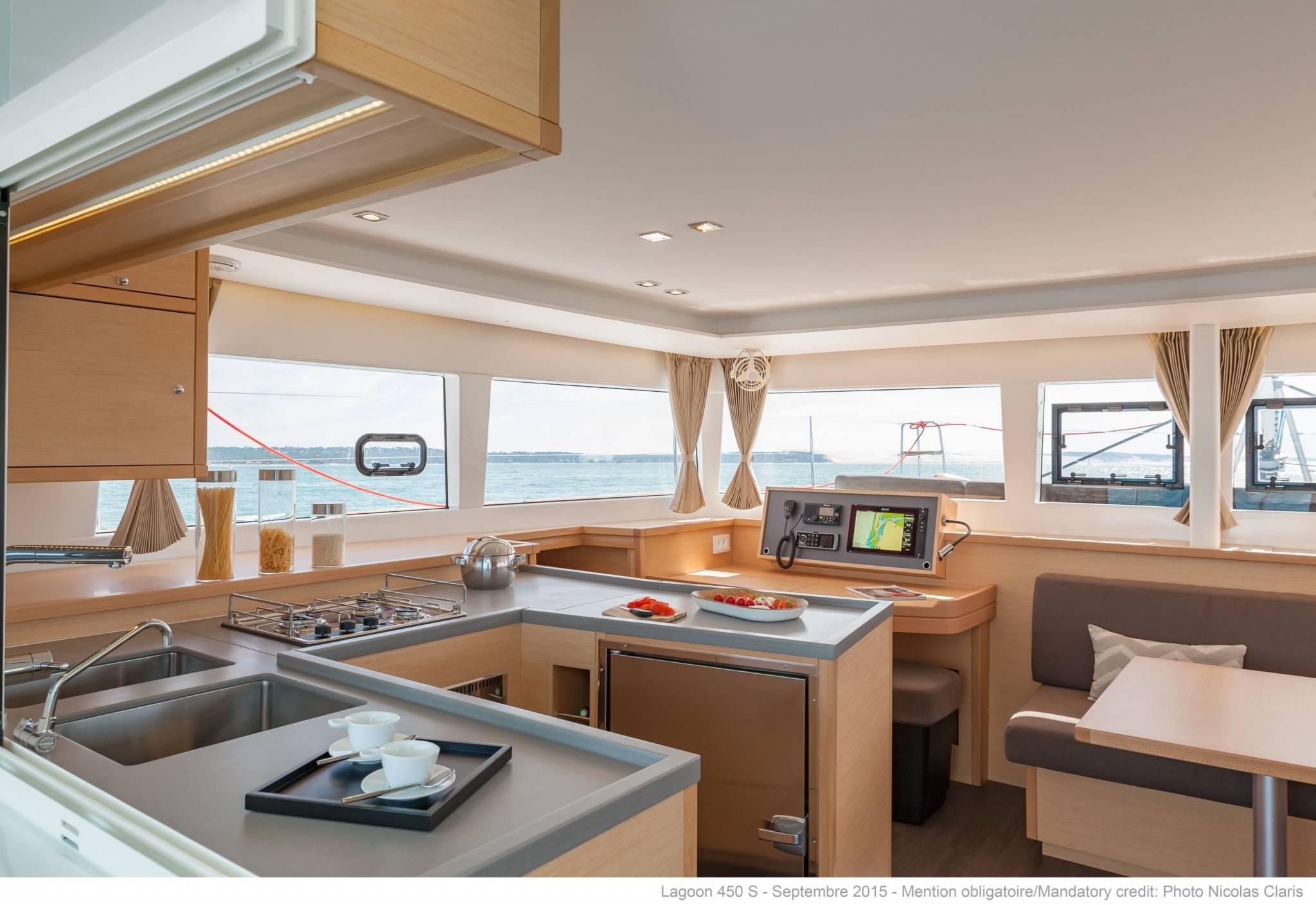 Lagoon 450 kitchen