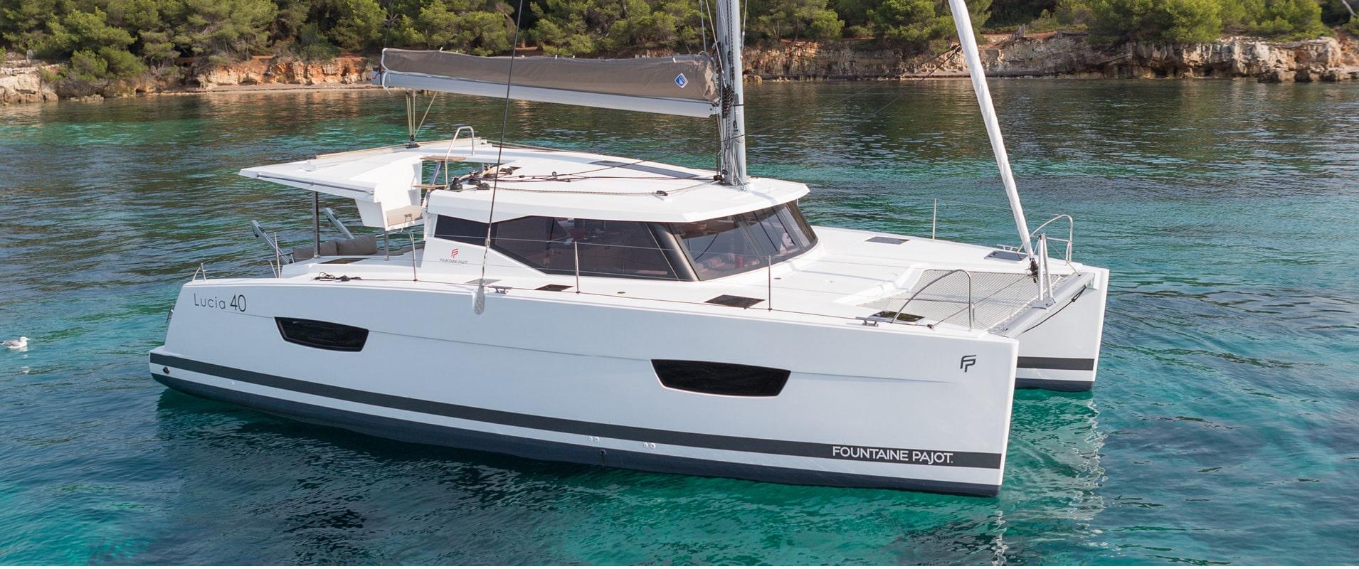 Lucia 40 sailing