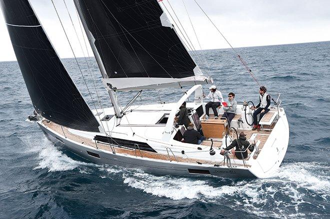 guys sailing Oceanis 41.1 in Croatia