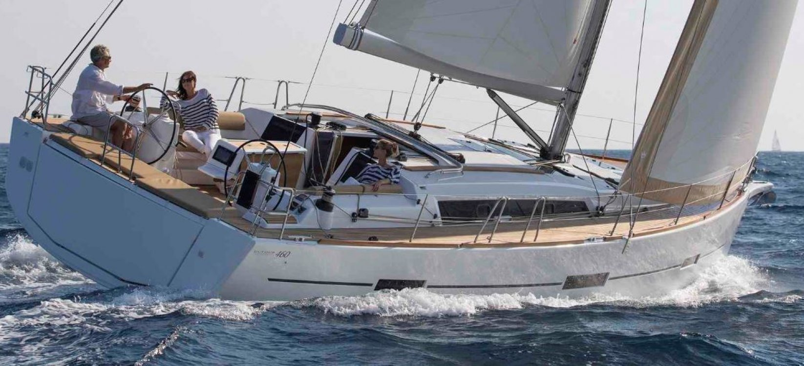 friends enjoy sailing on a Dufour 460 Grande Large