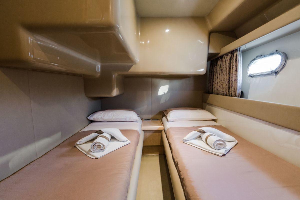 sleeping cabin of Ferretti 460