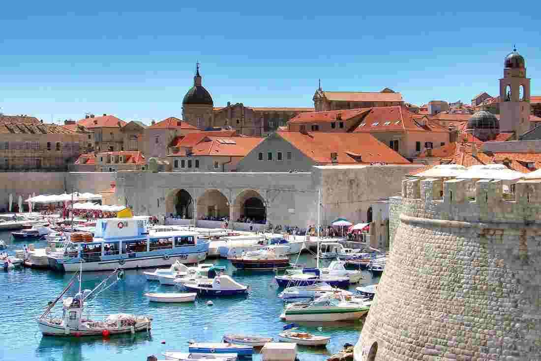Croatia, yachts, sea and beautiful old town