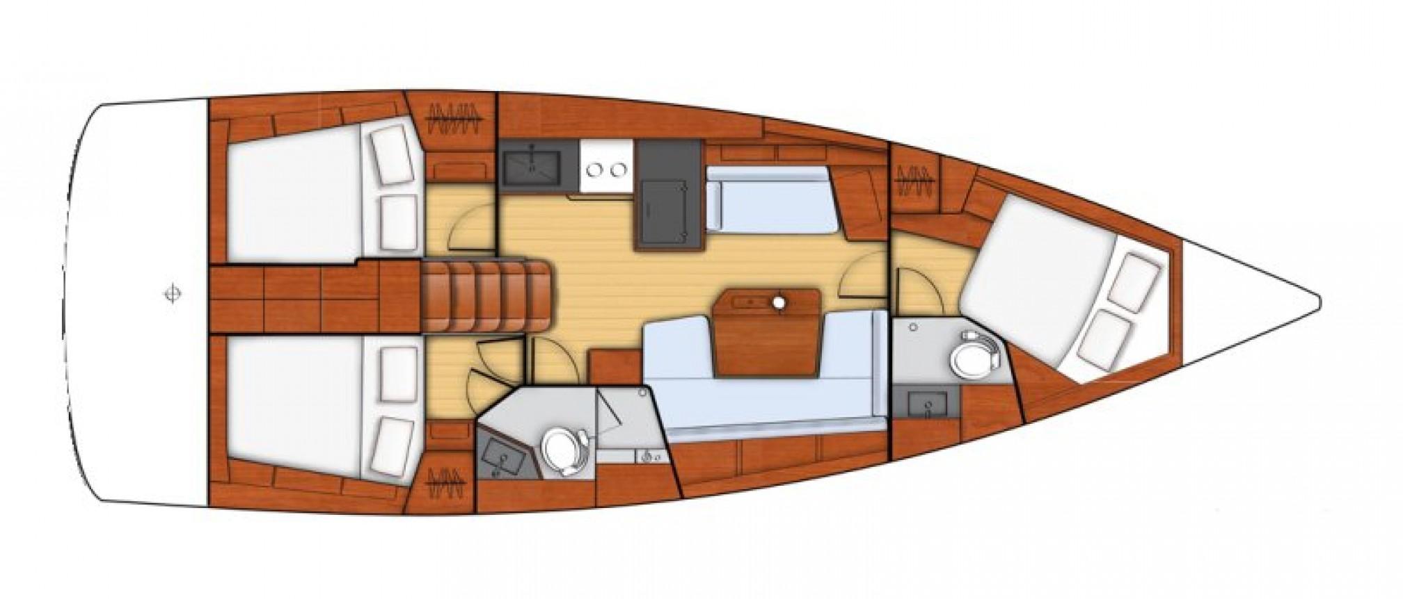 Beneteau Oceanis 41.1 layout