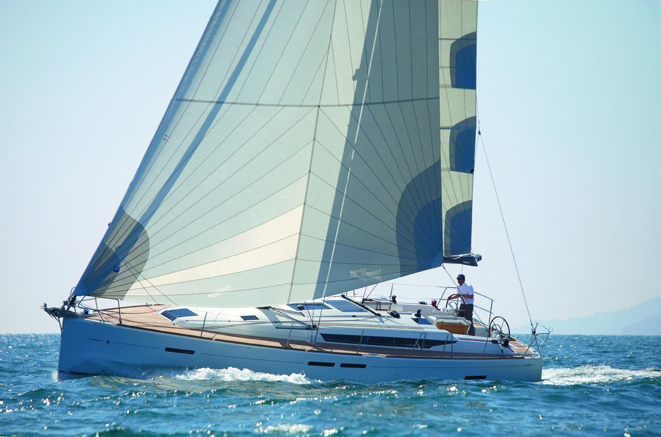 man sailing Sun Odyssey 449