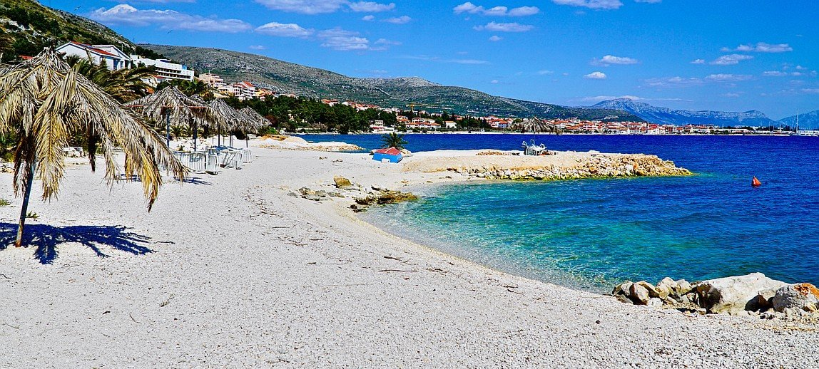 beautful beach and sea in Seget Donji Croatia